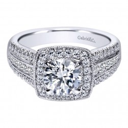 Gabriel 14 Karat Contemporary Engagement Ring ER10180W44JJ