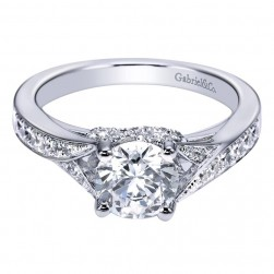 Gabriel 14 Karat Contemporary Engagement Ring ER6357W44JJ