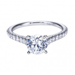 Gabriel 14 Karat Contemporary Engagement Ring ER7435W44JJ