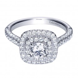 Gabriel 14 Karat Contemporary Engagement Ring ER8211W44JJ
