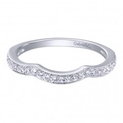 Gabriel 14 Karat Contemporary Wedding Band WB10796W44JJ