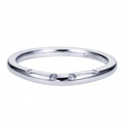 Gabriel 14 Karat Contemporary Wedding Band WB7789W4JJJ