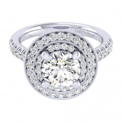Gabriel 14 Karat Perfect Match Engagement Ring ER039C8AHW44JJ