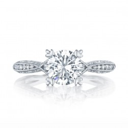2645RD712 Platinum Tacori Classic Crescent Engagement Ring