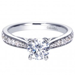 Gabriel 14 Karat Contemporary Engagement Ring ER8033W44JJ