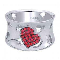 Gabriel Fashion Silver Eternal Love Ladies' Ring LR6913SVJRA