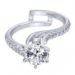 Gabriel 14 Karat Contemporary Engagement Ring ER10483W44JJ