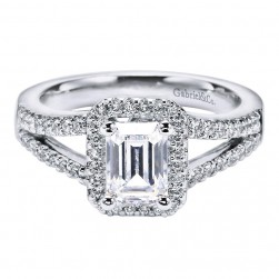 Gabriel 14 Karat Contemporary Engagement Ring ER5874W44JJ