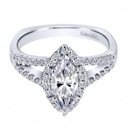 Gabriel 14 Karat Contemporary Engagement Ring ER7741W44JJ
