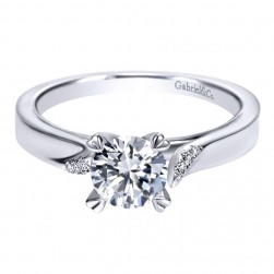 Gabriel 14 Karat Contemporary Engagement Ring ER8881W44JJ