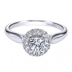 Gabriel 14 Karat Contemporary Engagement Ring ER911929R0W44JJ