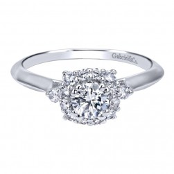 Gabriel 14 Karat Contemporary Engagement Ring ER911956R0W44JJ