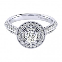 Gabriel 14 Karat Perfect Match Engagement Ring ER002A2AHW44JJ