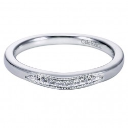Gabriel 14 Karat Contemporary Wedding Band WB6391W44JJ
