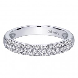 Gabriel 14 Karat Contemporary Wedding Band WB9446W44JJ