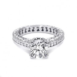 Tacori Platinum Crescent Engagement Ring HT2326SMSOL