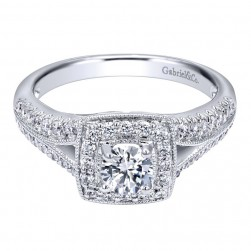 Gabriel 14 Karat Contemporary Engagement Ring ER910462W44JJ