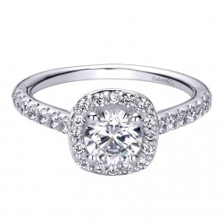 Gabriel 14 Karat Contemporary Engagement Ring ER9319W44JJ