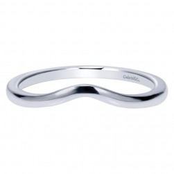 Gabriel 14 Karat Contemporary Wedding Band WB9006W4JJJ