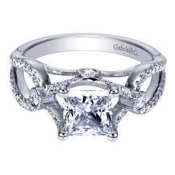 Gabriel 14 Karat Contemporary Engagement Ring ER6435W44JJ