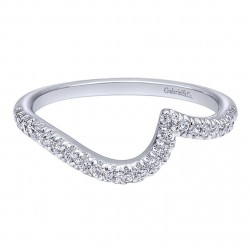 Gabriel 14 Karat Contemporary Wedding Band WB10084W44JJ