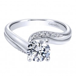 Gabriel 14 Karat Contemporary Engagement Ring ER10764W44JJ