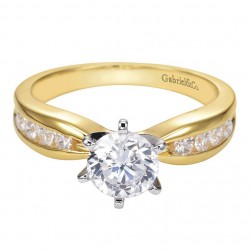 Gabriel 14 Karat Contemporary Engagement Ring ER1726M43JJ