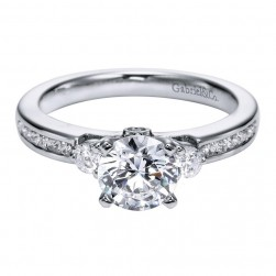 Gabriel 14 Karat Contemporary Engagement Ring ER5738W44JJ