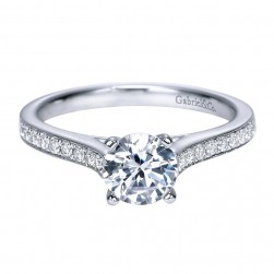 Gabriel 14 Karat Contemporary Engagement Ring ER7990W44JJ