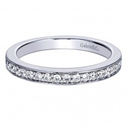 Gabriel 14 Karat Contemporary Wedding Band WB5893W44JJ