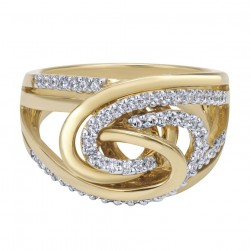 Gabriel Fashion 14 Karat Two-Tone Modern Ladies' Ring LR5018M44JJ