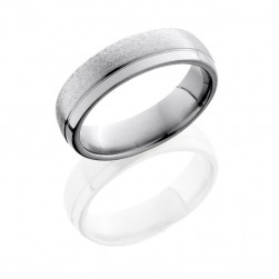 Lashbrook 6D1.5OC STONE-POLISH Titanium Wedding Ring or Band