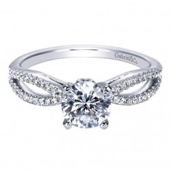 Gabriel 14 Karat Contemporary Engagement Ring ER8129W44JJ