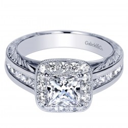 Gabriel 14 Karat Contemporary Engagement Ring ER8666W44JJ