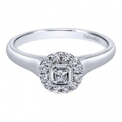 Gabriel 14 Karat Contemporary Engagement Ring ER910772W44JJ