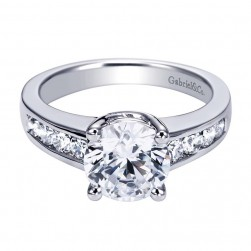 Gabriel 14 Karat Contemporary Engagement Ring ER3808W44JJ
