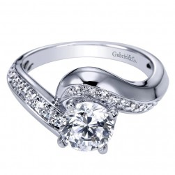 Gabriel 14 Karat Contemporary Engagement Ring ER5323W44JJ