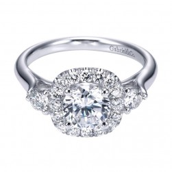 Gabriel 14 Karat Contemporary Engagement Ring ER6990W44JJ