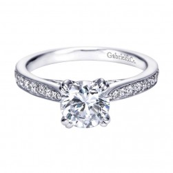 Gabriel 14 Karat Contemporary Engagement Ring ER7534W44JJ