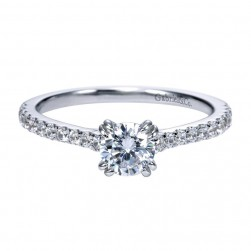 Gabriel 14 Karat Contemporary Engagement Ring ER97709W44JJ
