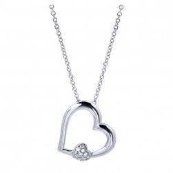 Gabriel Fashion 14 Karat Eternal Love Heart Necklace NK2858W45JJ