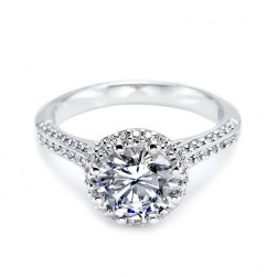 Tacori Platinum Solitaire Engagement Ring 2502RDP6