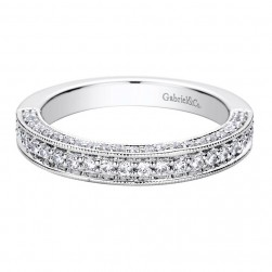 Gabriel 14 Karat Contemporary Wedding Band WB9249W44JJ