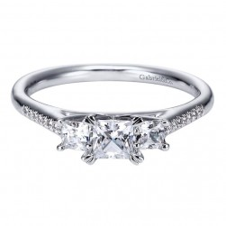 Gabriel 14 Karat Contemporary Engagement Ring ER94275W44JJ