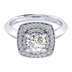 Gabriel 14 Karat Perfect Match Engagement Ring ER001B4AFW44JJ