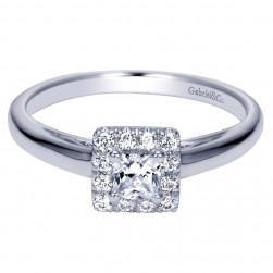 Gabriel 14 Karat Contemporary Engagement Ring ER98424W44JJ