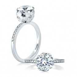 A.JAFFE Platinum Classic Engagement Ring ME1640
