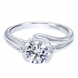 Gabriel 14 Karat Contemporary Engagement Ring ER10759W4JJJ