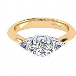Gabriel 14 Karat Contemporary Engagement Ring ER3819M44JJ