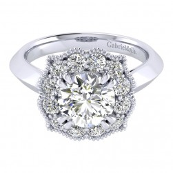 Gabriel 14 Karat Perfect Match Engagement Ring ER001C8ACW44JJ